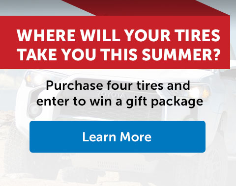 Where will your tires take you this summer?