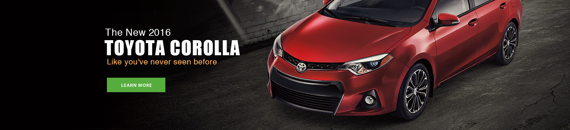 New 2016 Toyota Corolla - Learn More